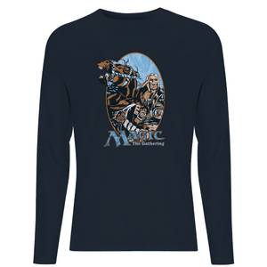 Magic the Gathering Retro Unisex Langarm T-Shirt - Navy