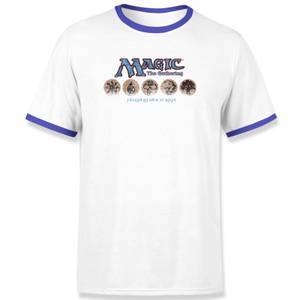 Magic the Gathering Playing Since 1993 Unisex Ringer T-Shirt - Weiß / Blau