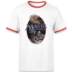 Magic the Gathering Est. 1993 Unisex Ringer T-Shirt - Weiß / Rot