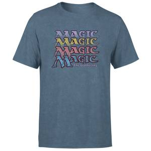 Magic the Gathering Unisex T-Shirt - Navy Acid Wash