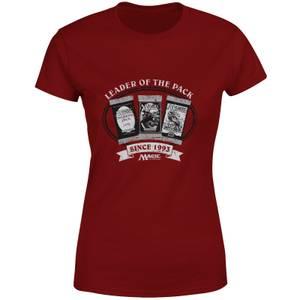 Magic the Gathering Leader Of The Pack Damen T-Shirt - Burgunderrot