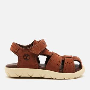 Timberland Toddlers' Nubble Leather Fisherman Sandals - Medium Brown Nubuck
