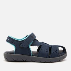 Timberland Toddlers' Nubble Leather Fisherman Sandals - Navy Nubuck