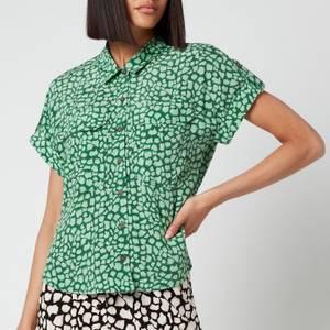 Whistles Women's Giraffe Animal Pocket Shirt - Green/Multi