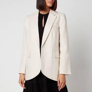Whistles Women's Oversized Linen Blazer - Beige