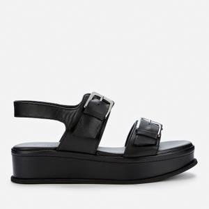 Whistles Women's Marley Buckle Flatform Sandals - Black