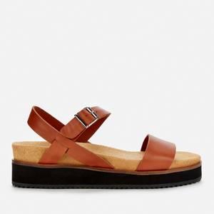 Whistles Women's Nola Footbed Sandals - Tan