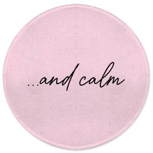 ...and Calm Round Bath Mat