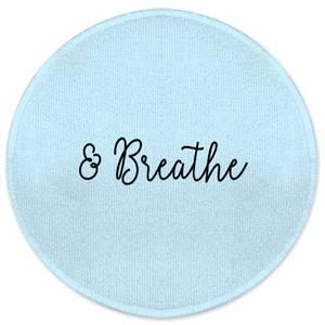 & Breathe Round Bath Mat