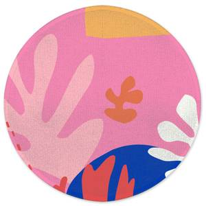 Colourful Abstract Round Bath Mat