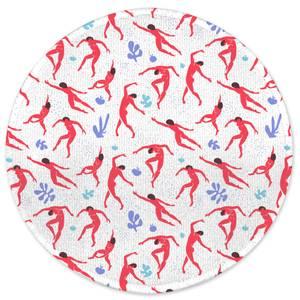 Dancing Silhouettes Round Bath Mat