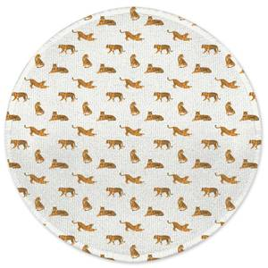 Earth Friendly Cheetahs Round Bath Mat