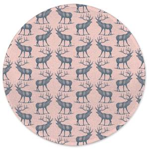 Earth Friendly Deer Round Bath Mat