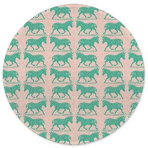 Earth Friendly Zebra Round Bath Mat