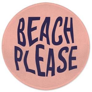 Earth Friendly Beach Please Round Bath Mat