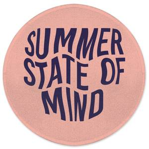 Earth Friendly Summer State Of Mind Round Bath Mat