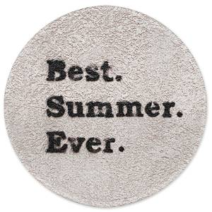 Earth Friendly Best Summer Ever. Round Bath Mat