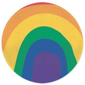 Earth Friendly Close Up Rainbow Round Bath Mat