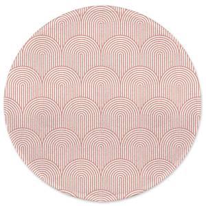 Earth Friendly Trippy Rainbow Pink Round Bath Mat