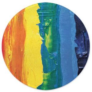 Earth Friendly Acrylic Rainbow Round Bath Mat