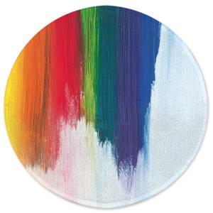 Earth Friendly Rainbow Smudge Round Bath Mat