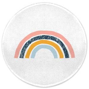 Earth Friendly Textured Rainbow Round Bath Mat