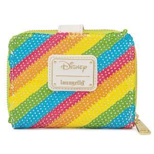 Loungefly Disney Sequin Rainbow Zip Around Wallet