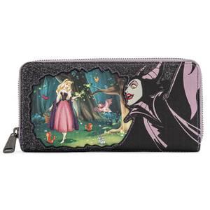 Loungefly Disney Villains Scene Maleficent Sleeping Beauty Zip Around Wallet