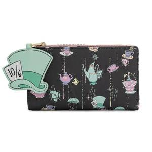 Loungefly Disney Alice In Wonderland A Very Merry Unbirthday To You Flap Wallet