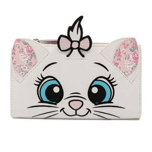 Loungefly Disney Marie Floral Face Flap Wallet