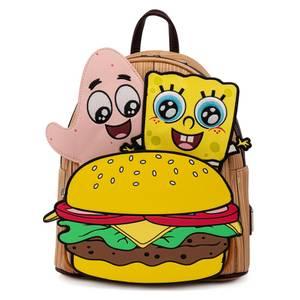 Loungefly Spongebob Crabby Patty Group Mini Backpack