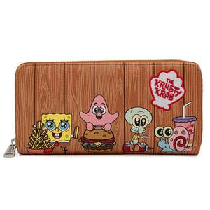 Loungefly Spongebob Krusty Crab Gang Zip Around Wallet
