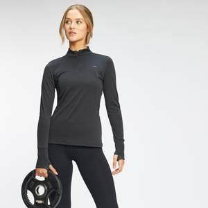 MP Women's Power Ultra Regular Fit 1/4 Zip Top - Black