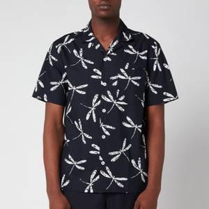 A.P.C. Men's Edd Short Sleeve Shirt - Dark Navy