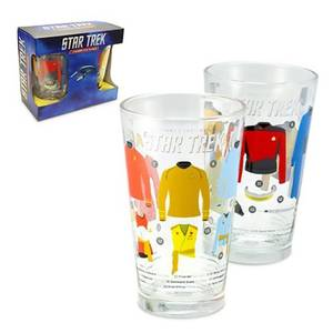 Coop Star Trek Uniforms & Equipment Pint Glasses Set of 2