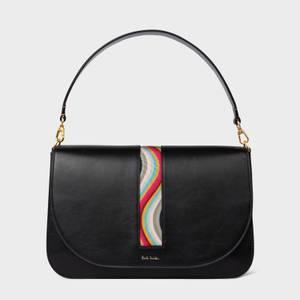 Paul Smith Women's Medium Saddle Swirl Trim Bag - Black