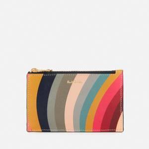 Paul Smith Women's Swirl Zip Card Holder - Multi