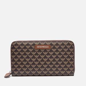 Emporio Armani Women's Frida Large Zip Around Wallet - Brown