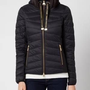 Barbour International Women's Grid Quilt Jacket - Black