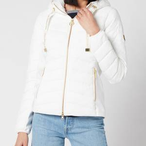 Barbour International Women's Grid Quilt Jacket - Optic White