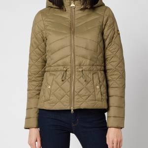 Barbour International Women's Drifting Quilt Jacket - Lt Army Green