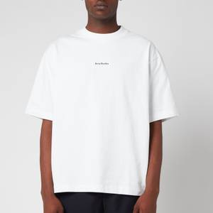 Acne Studios Men's Printed Logo T-Shirt - Optic White