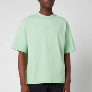 Acne Studios Men's Printed Logo T-Shirt - Mint Green