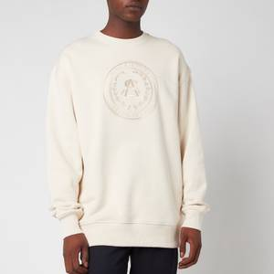 Acne Studios Men's Embroidered Logo Sweatshirt - Coconut White