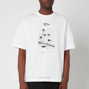 Acne Studios Men's Printed T-Shirt - Optic White