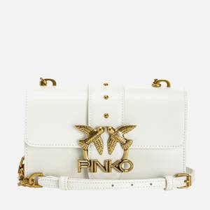 Pinko Women's Love Mini Icon Simply 5 Shoulder Bag - White