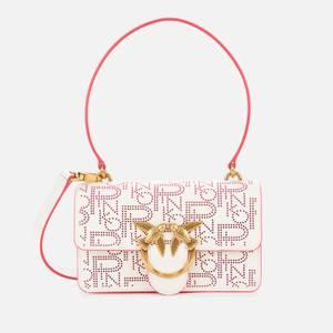 Pinko Women's Love Mini Icon Pinpoint Shoulder Bag - White