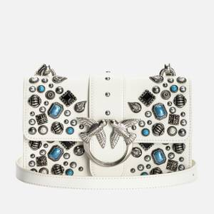 Pinko Women's Love Mini Icon Ethnic Studs Shoulder Bag - White