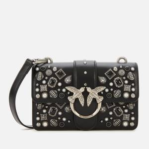 Pinko Women's Love Mini Icon Ethnic Studs Shoulder Bag - Black