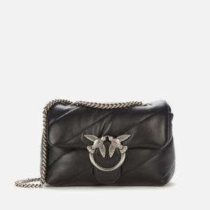 Pinko Women's Love Mini Puff Maxi Quilt Shoulder Bag - Black